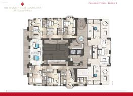 mansions at acqualina floor plans palazzo d oro floor 2