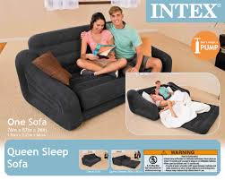 Pull Out Sofa Bed Intex Inflatable Pull Out Sofa U0026 Queen Bed Mattress Sleeper W Ac