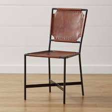 Leather Dining Chairs Canada Impressive Laredo Brown Leather Dining Chair Crate And Barrel In