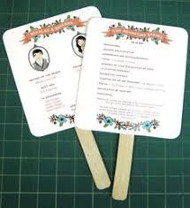 Wedding Program Paper Kits Diy Heart Fan Wedding Program Paper Kit Fan Wedding Programs And