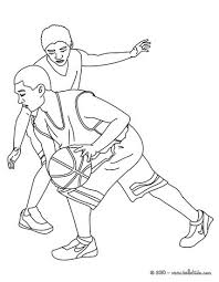basketball player dunking coloring pages hellokids com
