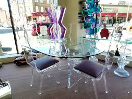 Ghost Dining Chair Set Of 4 Style Ghost Dining Chair Clear Color Glass Table