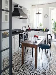 White Kitchen Tile Floor Tile Floor With White Cabinets Houzz