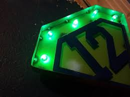 seahawks light up sign home decor light up metal sign seahawks inspired get both for 55