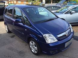 vauxhall meriva 2008 08 vauxhall meriva 1 6i 16v breeze 5 door blue good