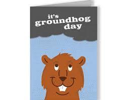 groundhog day cards groundhog day etsy