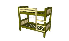 Free Plans For Building A Bunk Bed by How To Build A Bunk Bed Howtospecialist How To Build Step By