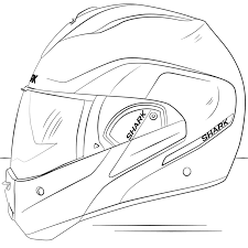 motorcycle fullface helmet coloring page transportation free