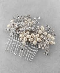 pearl hair comb handcrafted freshwater pearl hair comb sam moon