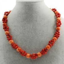 natural beads necklace images Natural coral beads necklace two colours jpg