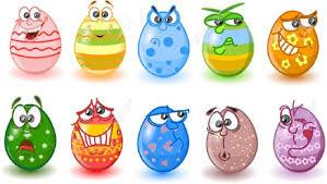 cartoon easter eggs happy easter royalty free cliparts vectors