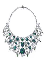 red opal necklace images Chopard red carpet collection necklace with black opals and jpg
