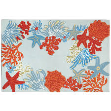 Indoor Outdoor Rug Ocean Scene Rug Indoor Outdoor Rug