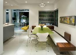 corner banquette bench kitchen midcentury with white bench cushion