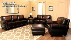 venezia leather sectional and ottoman venezia 4 piece leather set video gallery