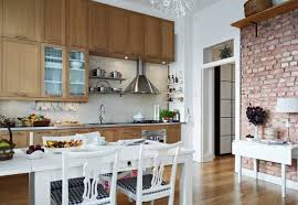 Accent Wall Ideas For Kitchen Kitchen Fabulous Ideas For Kitchen Decoration Using White Wood
