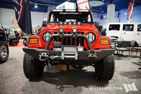 lj jeep 2017 sema rugged ridge red jeep lj unlimited