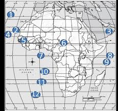 africa map review quia africa physical features map review