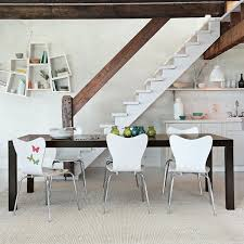 dinning rooms cool stainless steel explandable dining table and