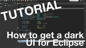 eclipse theme switcher tutorial complete dark ui for eclipse ide youtube