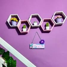 cara membuat kerajinan tangan menggunakan stik es krim hiasan dinding buatan sendiri dari stik es krim berbentuk hexagonal