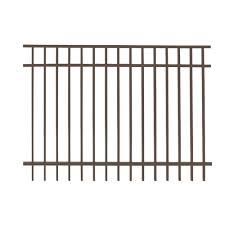us door fence pro series 4 84 ft h x 7 75 ft w black steel