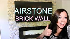 diy easy veneer stone accent wall airstone brick wall youtube
