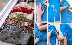 how to make sweater mittens out of an sweater home design