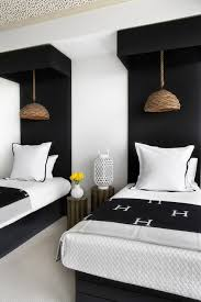 lonny magazine bedrooms black and white bedroom twin