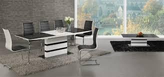 Black Glass Extending Dining Table White High Gloss Black Glass Extending Dining Table And 6 Chairs