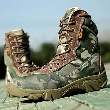 Most Comfortable Police Duty Boots Men Military Tactical Ankle Boots 2017 Summer Camouflage Mens