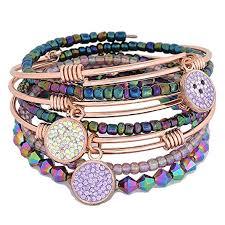 stacking bracelets mirage kona stacks bracelet set gold stacking