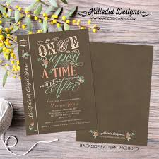 once upon a time storybook baby shower invitation baby