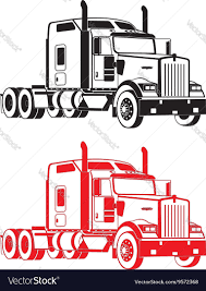 w900 kenworth w900 semi truck royalty free vector image