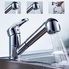 robinet pour cuisine auralum mitigeur robinet d évier avec douchette extractible pour