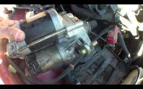 clicking starter motor replacement honda accord youtube