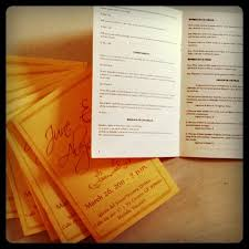 Booklet Wedding Programs Wedding Joeben Designs