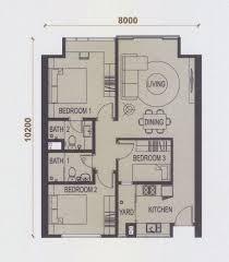 floor plan feng shui 平面图の风水 elevia residences condominium