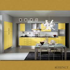 Yellow Kitchen Cabinets - substitute boring browns and whites with a bright color for