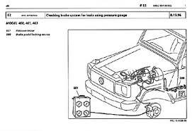 mercedes repair manuals mercedes gelaendewagen 460 461 643 series brake service