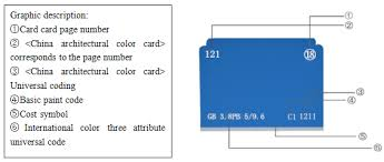 chinese standard universal building color card professional paint