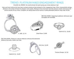 most popular engagement rings trend alert platinum halo engagement rings