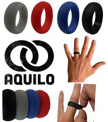 rubber wedding bands aquilo silicone wedding ring band rubber ring crossfit best