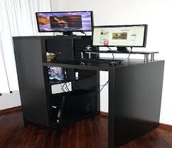 Desks For Small Spaces Ikea Desk Computer Desk Big Enough For Dual Monitor Good Computer Desk