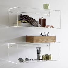 wall mounted kitchen shelves furniture accessories modern transparent lucite wall mounted