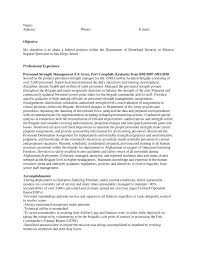 Contract Specialist Resume Sample by Free Federal Resume Sample From Resume Prime