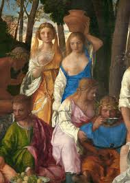 bare breasted file bellini and titian the feast of the gods detail