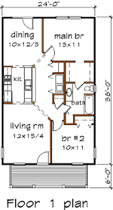 Price To Draw Original Home Floor Plan 1870 Sq Feet I 912 Sq Ft 24x38 Cabin Floor Plans Pinterest Cabin Floor