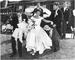 Jfk S Son Jacqueline Bouvier Kennedy And Senator John F Kennedy At Their
