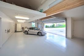 Garage Interior Design by Modern Large White Nuance Of The Garage Can Be Decor With White